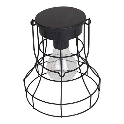 Housevitamin lantaarn/hanglamp/tafellamp LED - zwart metaal