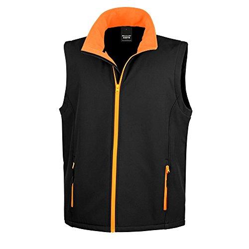 Result, Bedruckbare Softshell-Weste für Herren Gr. M, schwarz / orange