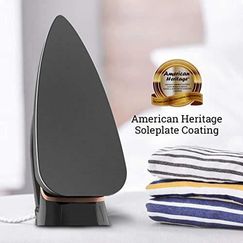 Crompton InstaGlide 1000-Watts Dry Iron with American Heritage Coating (Black)