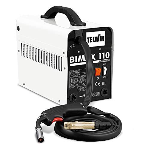Telwin 821075 Bimax 110 Automatic Saldatrice a Filo Flux, 230 V, Bianco, Bimax 110