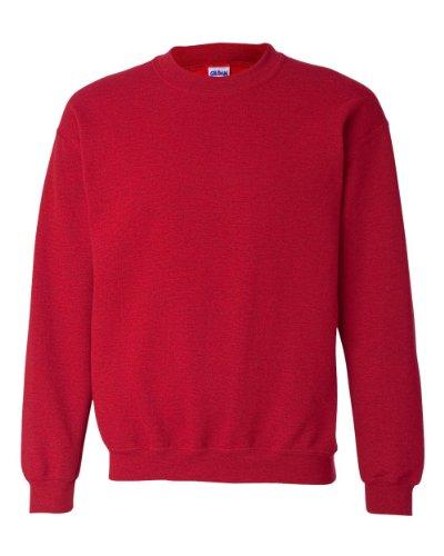 Gildan Chandail en coton ouaté épais unisexe avec col rond pour adulte - Rouge - XX-Large