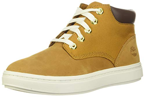 Timberland Womens Leather Lace Up Sneaker Boots Tan 6.5 Medium (B,M)