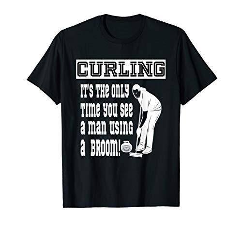 Funny Curling - Wischer Besen - Curler Wintersport T-Shirt