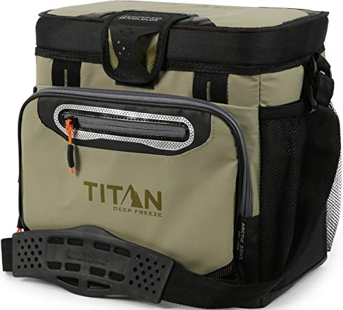 Arctic Zone Titan Deep Freeze 16 Can Zipperless Hardbody Cooler, Moss