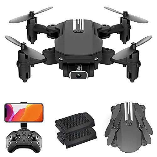 Flytise Droni telecomandatiC,LS-MIN Mini Drone RC Quadcopter 4K Fotocamera 13 minuti Tempo di volo 360 ° Flip 6 assi Gyro Gesto Foto Video Traccia Volo Altitudine Tenere senza