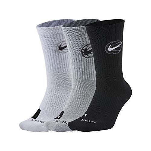 Nike Crew Everyday - Confezione da 3 paia di scarpe da basket da uomo, taglia 40-13