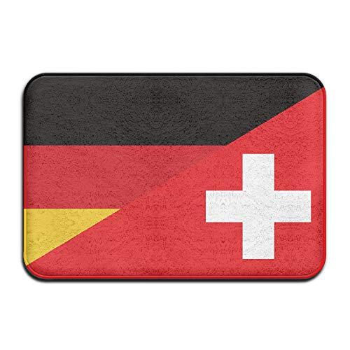 Eastery Flagge Von Deutschland Und Der Schweiz Die Sauberlaufmatten rutschfeste House Einfacher Stil Garden Gate Teppich Fußmatte Boden Pads (Color : Colour, Size : Size)