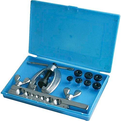 Silverline 633545 Kit Attrezzi Borda Tubi, 9 Pezzi, per tubi di rame ed alluminio morbide