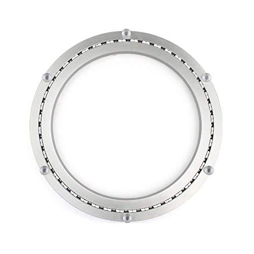 HomDSim Aluminio Metal Lazy Susan Hardware Rotación giratoria de 360 ° Rodamientos Placa giratoria Placa giratoria en Muebles de Mesa de Comedor Hardware Placa giratoria Bandejas (Mudo, 300mm)