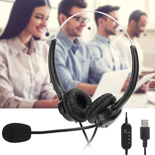 Worii Service Headset USB Call Center Headset, Customer Service Headset, Noise Reduction Ergonomic Design for Notebook Laptop Customer Service