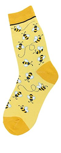 Foot Traffic, Bugs Womens Socks, Bees All Over