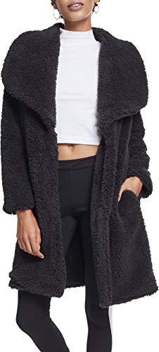 Urban Classics Damen Ladies Soft Sherpa Coat Parka, Schwarz (Black 00007), Small