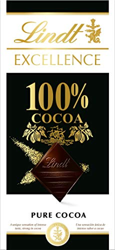 Lindt Excellence 100% Cacao Dark Chocolate Bar 50g