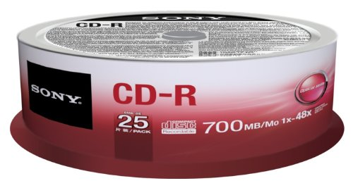 Sony 25CDQ80SP CD-R 700MB/80min Spindle (Pack of 25)
