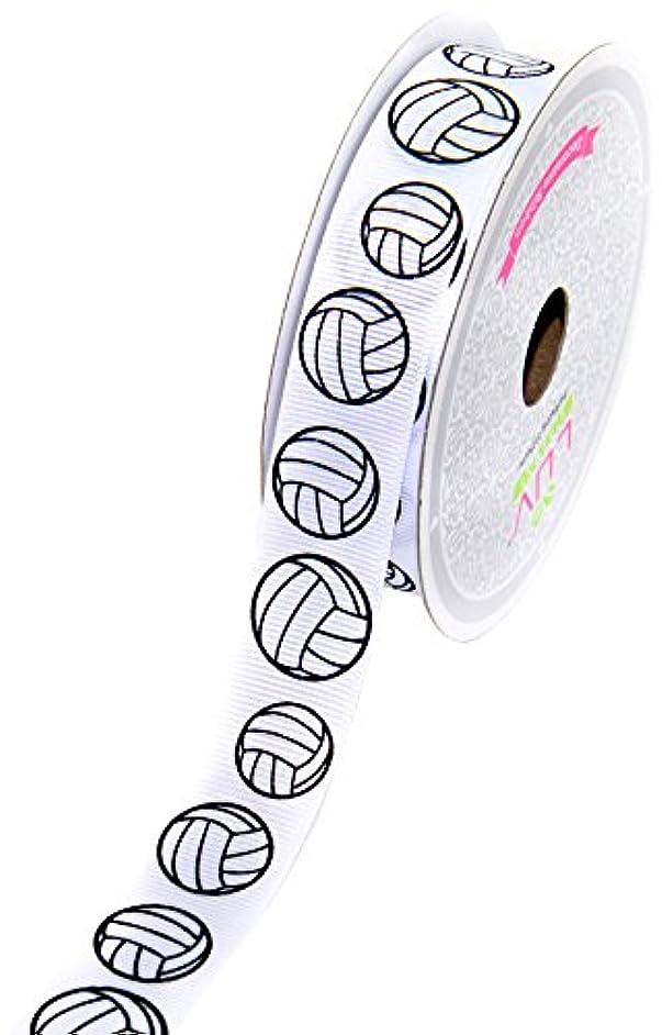 LUV RIBBONS GSO0708-VOL Grosgrain 7/8-Inch Sports Ribbon, 10-Yard, Volleyball