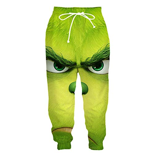 SMYUI Herren 3D-Druck Drawstring Hoodies mit Großen Taschen Grünes Fell Muster Sweatshirt T-Shirt 3D Zip Hoodie Shorts Hosen Polo Shirt-Hose Medium