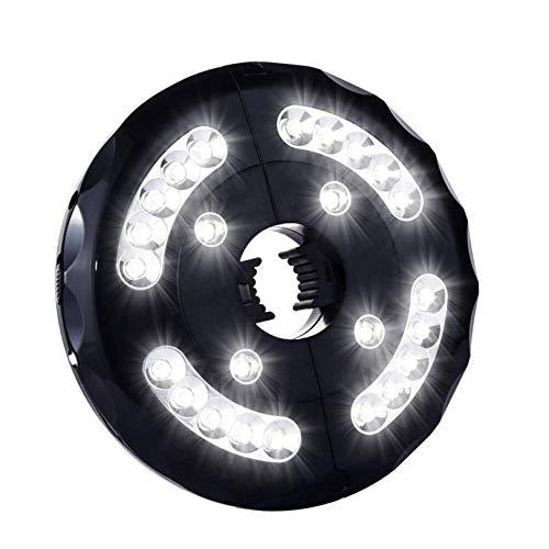 ChangSheng Iluminación LED para sombrilla, 28 ledes, luz inalámbrica, superbrillante, carga por USB, adecuada para jardín, playa, exterior, barbacoa, fiesta, luz blanca
