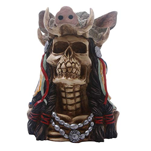 VICASKY 1pc decoração de caveira de halloween horror, novidade, brinquedo, comédia, paródia, suporte humano, resina, caveira, ornamento