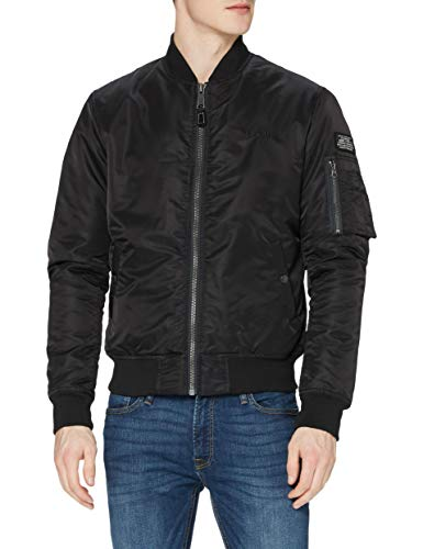 Schott NYC Airforce1 Giacca, Nero (Black), Medium Uomo