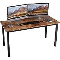 CJMM パソコンデスク 120 x 60 pcデスク 机 頑丈で組立簡単、シンプル テレワークテーブル 100、120、140、160CMオプション オフィス/勉強/在宅勤務/食事に対応 ブラウン