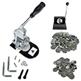 Button Maker Badge Making Machine 58mm (2¼ inch)   Heavy Duty Circle Cutter Punch Press   1,000 Circle Button 58MM (2¼ inch) Parts - Metal Badge Button Shell & Pin Back   All-in-One Complete DIY