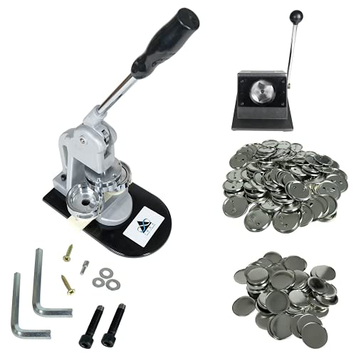 INEX Life Button Maker Machine Kit 58mm (2 ¼ inch)| Industrial Circle Cutter Punch Press - Includes All Pieces for 1,000 Metal Badge Buttons