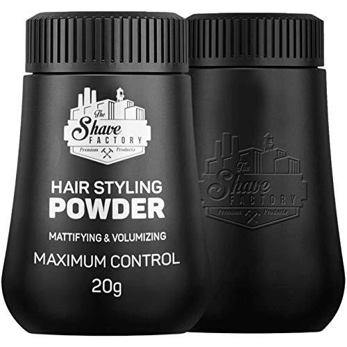 The Shave Factory Hair Styling Powder 21g Haar Styling Puder Volumenpuder | Männer Styling | für den lässigen Look | entspanntes Styling für Ihn | Einfaches Styling (1 Packung)