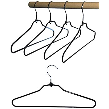 DILY 50 perchas fuertes de alambre de metal rojo para ropa o pantalones barra de 40 cm para camisetas