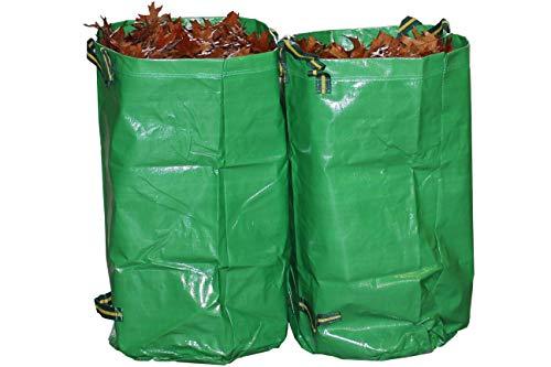 Gruener Schlauch Gartensack 120 Liter / 270 Liter *** Selbständig stehende robuste Ausführung mit Polypropylen (PP)-Gewebe 260g/m2 *** (2 x 270 Liter)