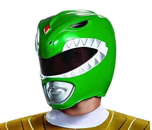 Disguise Green Ranger – Casco de Adulto para Hombre, Verde, Talla única Adulto