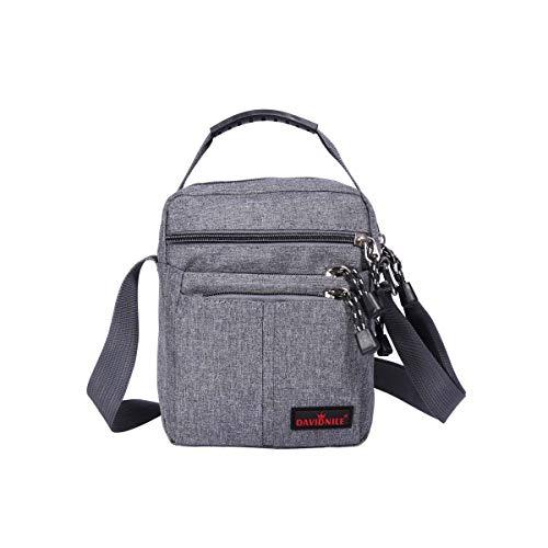 Men's Messenger Bag - Crossbody Shoulder Bags Travel Bag Man Purse Casual Sling Pack for Work Business (1893-Grey)