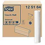 Tork 125164 Papel para camilla Universal de 1 capa compatible con el sistema de rollos de camilla C1, blanco, 8 rollos x 50.16 metros, 38 x 55 cm (L x A) x servicio