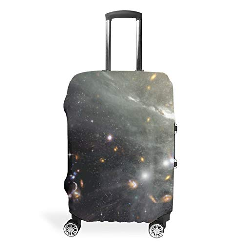 Galaxy Travel Luggage Case Covers – Universe Unique Luggage Cover Multiple Sizes Fit Protective Case, White (White) - Bannihorse-scc