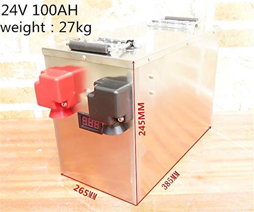 SHUNBIN Batería Lifepo4 100ah 200ah 300ah 400ah 24V Batería de fosfato de Hierro de Litio para Sistema Solar…