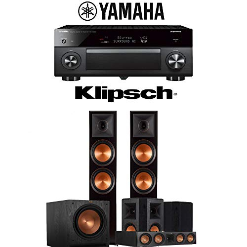 Klipsch RP-8000F 5.1-Ch Reference Premiere Home Theater Speaker System with Yamaha AVENTAGE RX-A2080 9.2-Channel 4K Network AV Receiver
