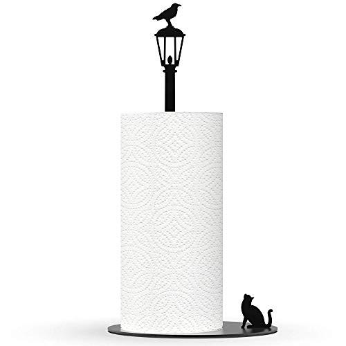 "Artori Design ""Hunde gegen Katzen"" | Küchenrollenhalter | Süßer Papierrollenhalter"