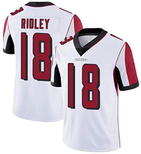 XIKONG Ridley # 18 Hombres Camiseta De Fútbol Americano Atlāńtá, Camisa De Camiseta De Rugby Camiseta De Manga Corta Al Aire Libre Ventilador Cómodo Y Respirador Red-L