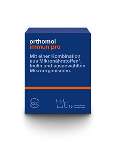 Orthomol immun pro 15er Granulat & Kapsel als Nahrungsergänzungsmittel - Vitamine & Mikronährstoffe für das Immunsystem