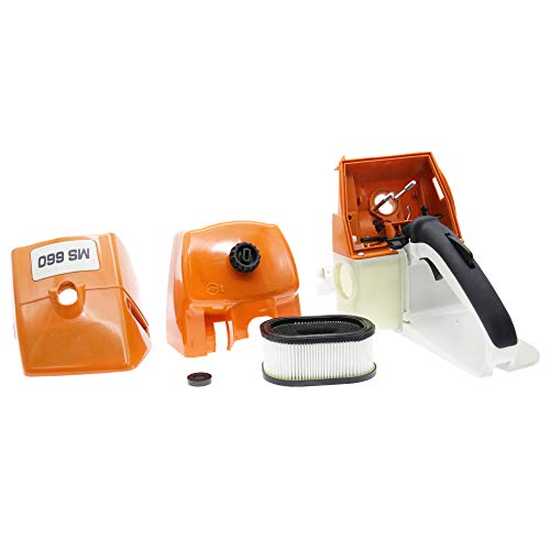 QHALEN Gas Fuel Tank Back Rear Handle with Air Filter for STIHL MS660 MS650 066 065 Chainsaw