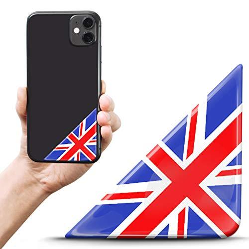 Biomar Labs 2 pegatinas de gel de silicona 3D para matrícula, tuning, coche, casco, tableta, portátil, teléfono móvil, Reino Unido, bandera de Reino Unido, F 142