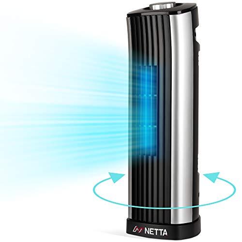 NETTA Mini Tower Fan - Quiet Cooling Power - 14 Inch - 85° Oscillation - 2...