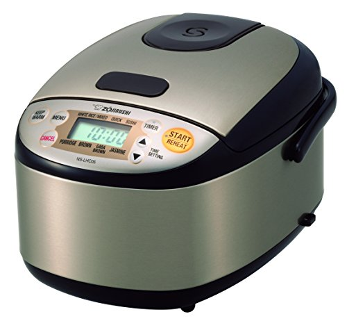 Zojirushi NS-LHC05XT Micom Rice Cooker & Warmer, Stainless Dark Brown