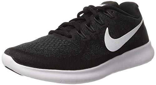 Nike Men's Flex Contact Running Shoe, Black/White/Dark Grey/Anthracite 10