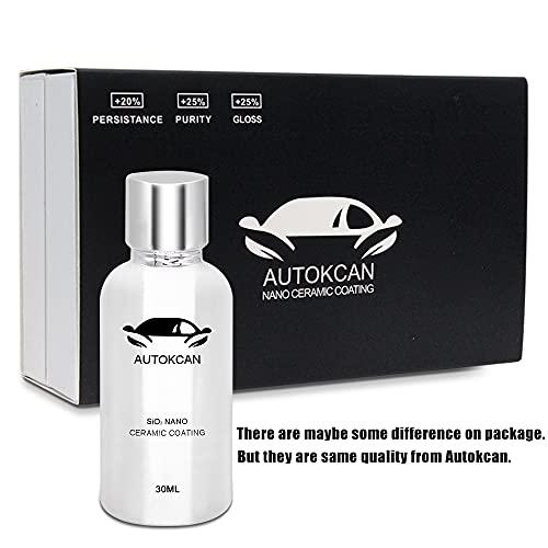 Autokcan 9H Nano Ceramic Coating for Cars, High Gloss Anti-Scratch Automotive Ceramic Coating Car Kit Liquid Car Hydrophobic Paint Sealant Protection Better Than Mr Fix 9H