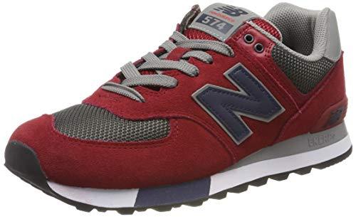 New Balance 574v2, Herren Niedrig, Rot (Red/Grey), 40 EU (6.5 UK)