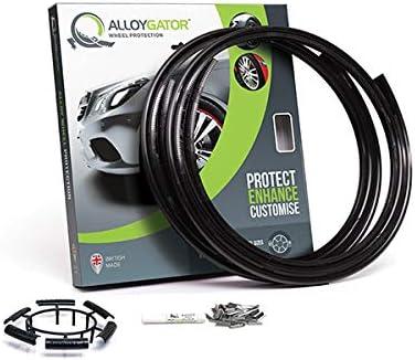 AlloyGator Noir Protecteurs de Roue en Alliage Protecteurs de Jante | Protection des Roues | Protection des Roues en ...