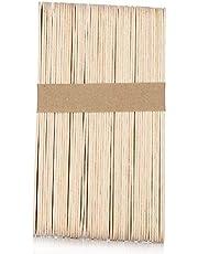 50st Vaxspatlar Trävaxapplikator Sticks Sticks Wood Craft Sticks för Hårborttagning