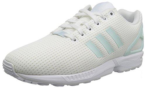 adidas Originals Women\'s ZX Flux W Running Shoe White, 7.5 Medium US