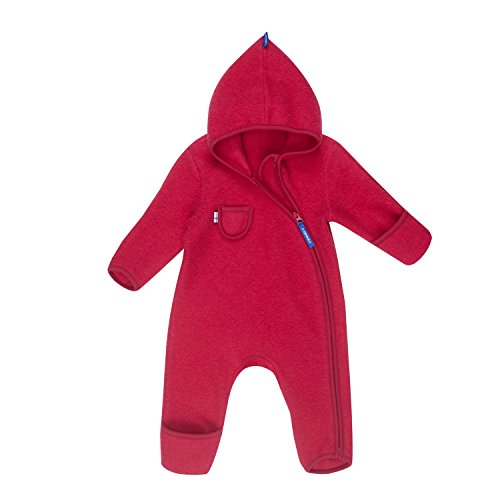 Finkid Puku Wool persian red Kinder Wollfleece Overall