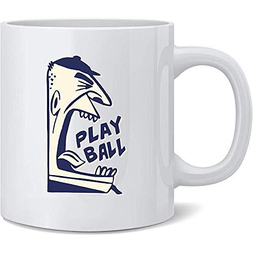 Spiel-Ball-Baseball-Retro Schiedsrichter trägt Keramik-Kaffeetasse-Spaß-Neuheits-Geschenk zur Schau